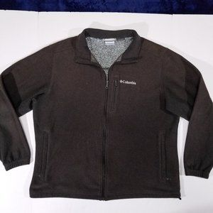 Columbia Omni-Heat Brown Zip-Up Fleece Sweatshirt